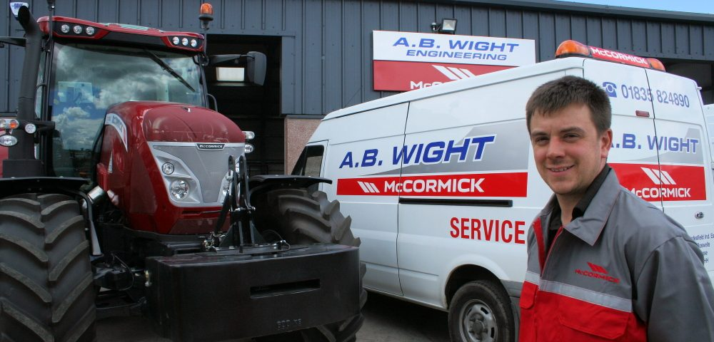 Show Andrew Wight of AB Wight Engineering with a McCormick tractor
