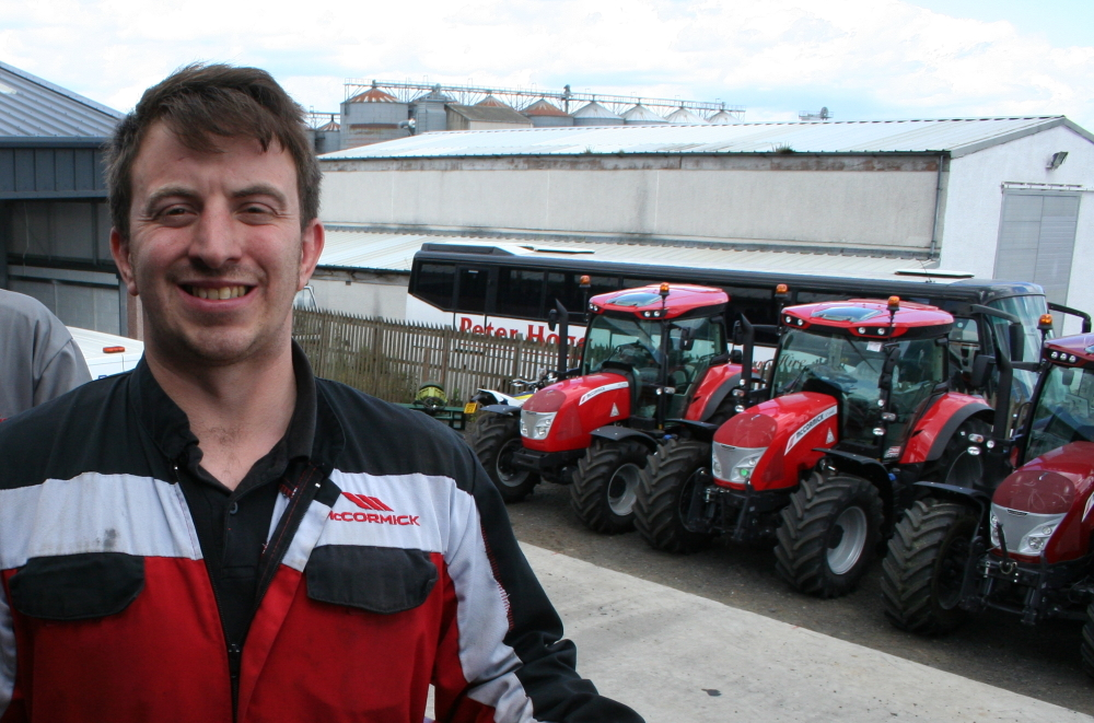 Show Garry Wight of AB Wight Engineering with McCormick tractors in stock