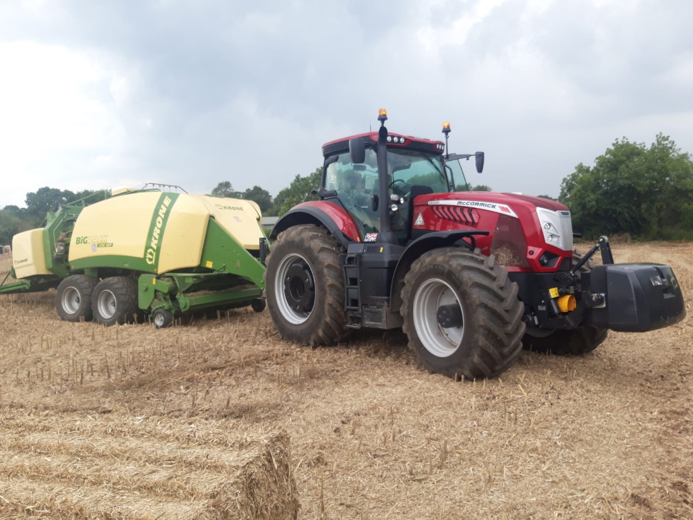 Picture show a McCormick X8 VT-Drive tractor supplied by Moore Farm Services